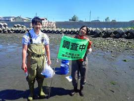 北海道東部、厚岸湖でアマモの調査、実施しました!