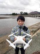 平内町からの委託研究、ドローンで海草コアマモを撮影しています!